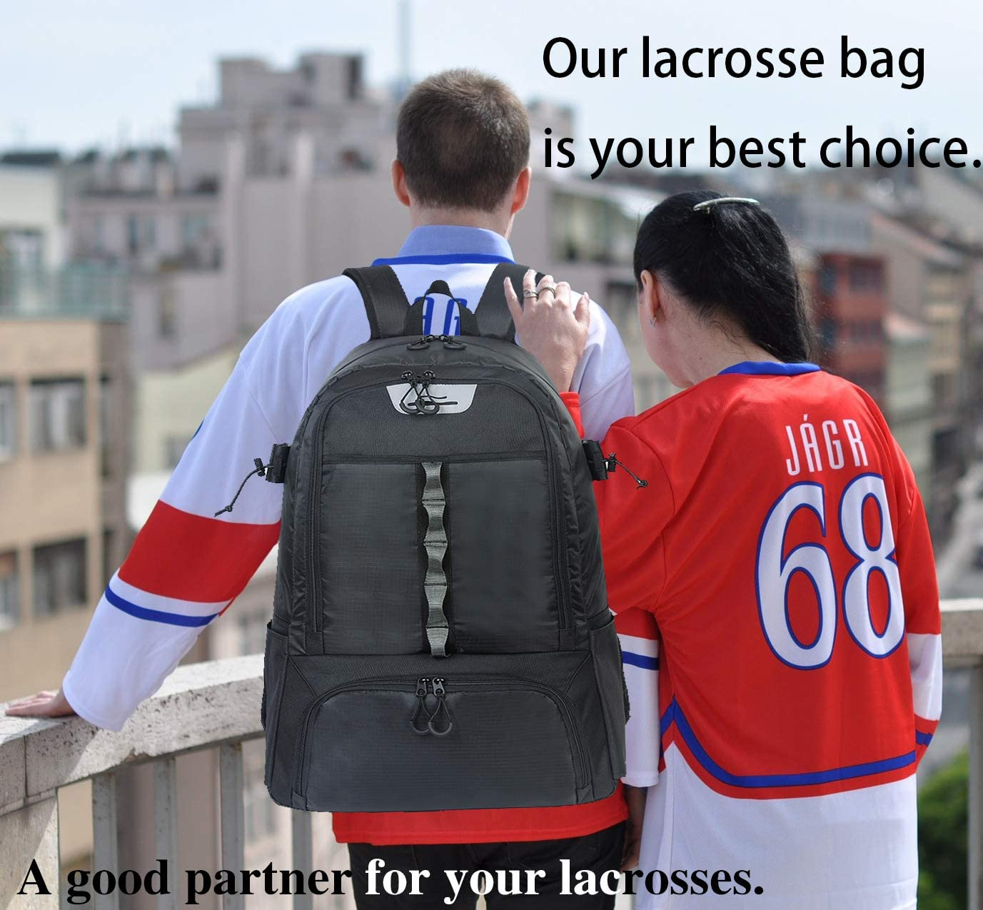 China High Quality Solar Backpack Factory –  Custom Large Capacity Hockey Equipment Backpack – Kinghow detail pictures