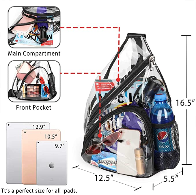 China Wholesale Equipment Bags Factory –  Fashion Clear Sling Bag Backpack – Kinghow