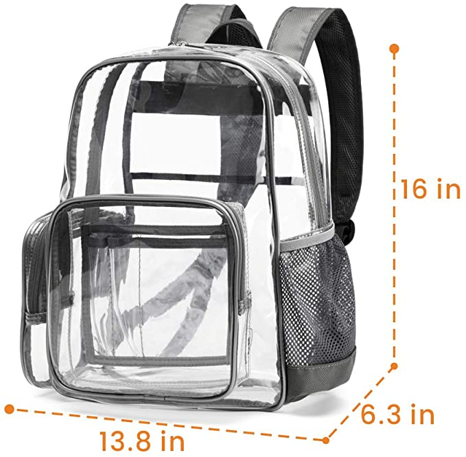 China High Quality Branded Bags Factory –  Clear PVC Backpack Stadium Approved – Kinghow