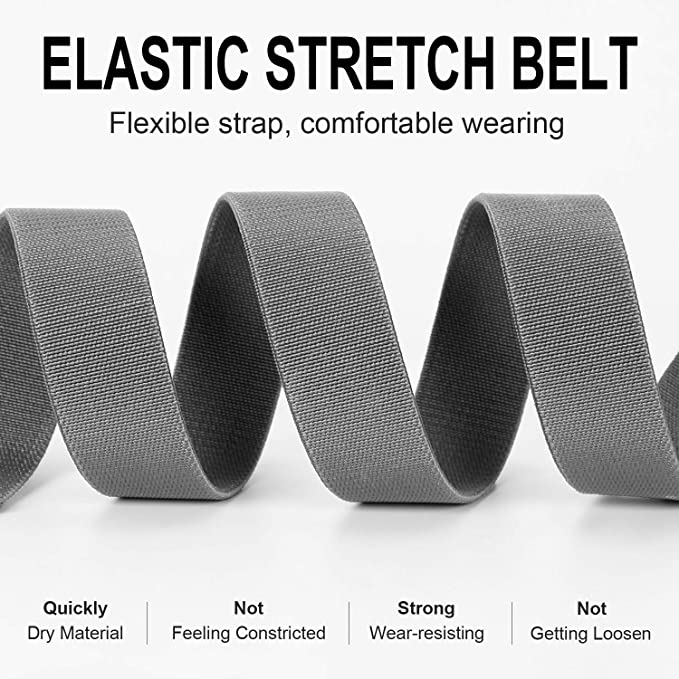 Mens Nylon Belt 51 inch Elastic Stretch