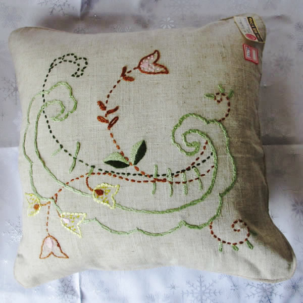 Wholesale Linen Hand Embroidery Cushion Cover