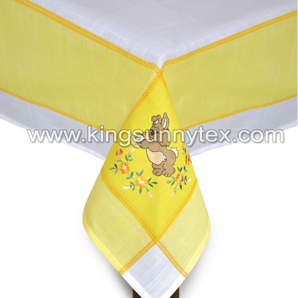 100% Polyester Table Cloth With Embroidery Flower Featured Image