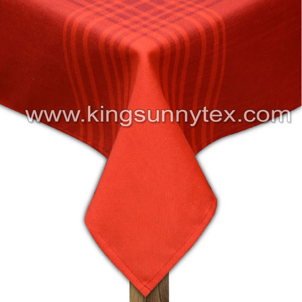 Red Yarn Dyed Check Fabric For Table