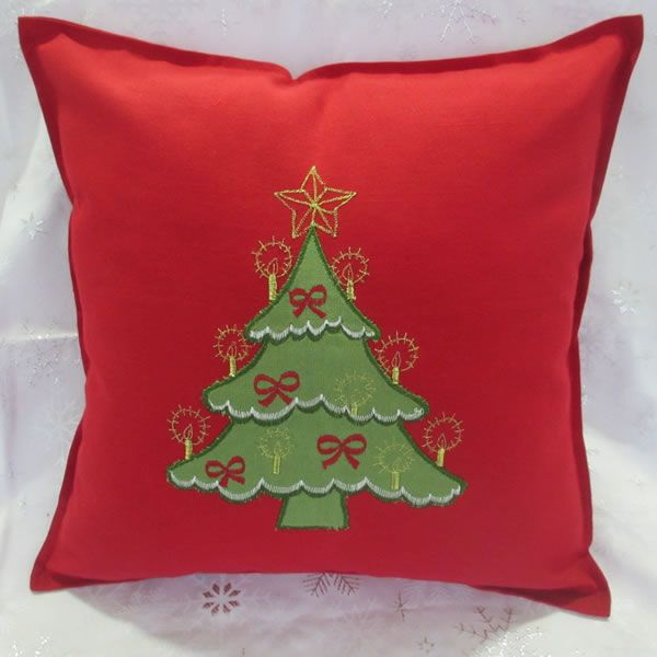 Christmas Tree Embroidery Cushion cover 1213-46