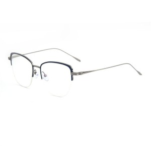 Pure Titanium High Quality Half Rim Eyeglass Frames #89040