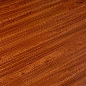 Simple brown color surface treatment 100% virgin material SPC vinyl click floor