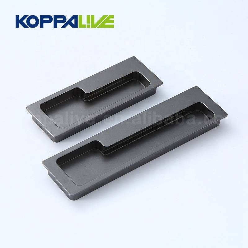 Hot Sale Alloy Concealed Handles European Furniture Drawer Square Hidden Door Handle