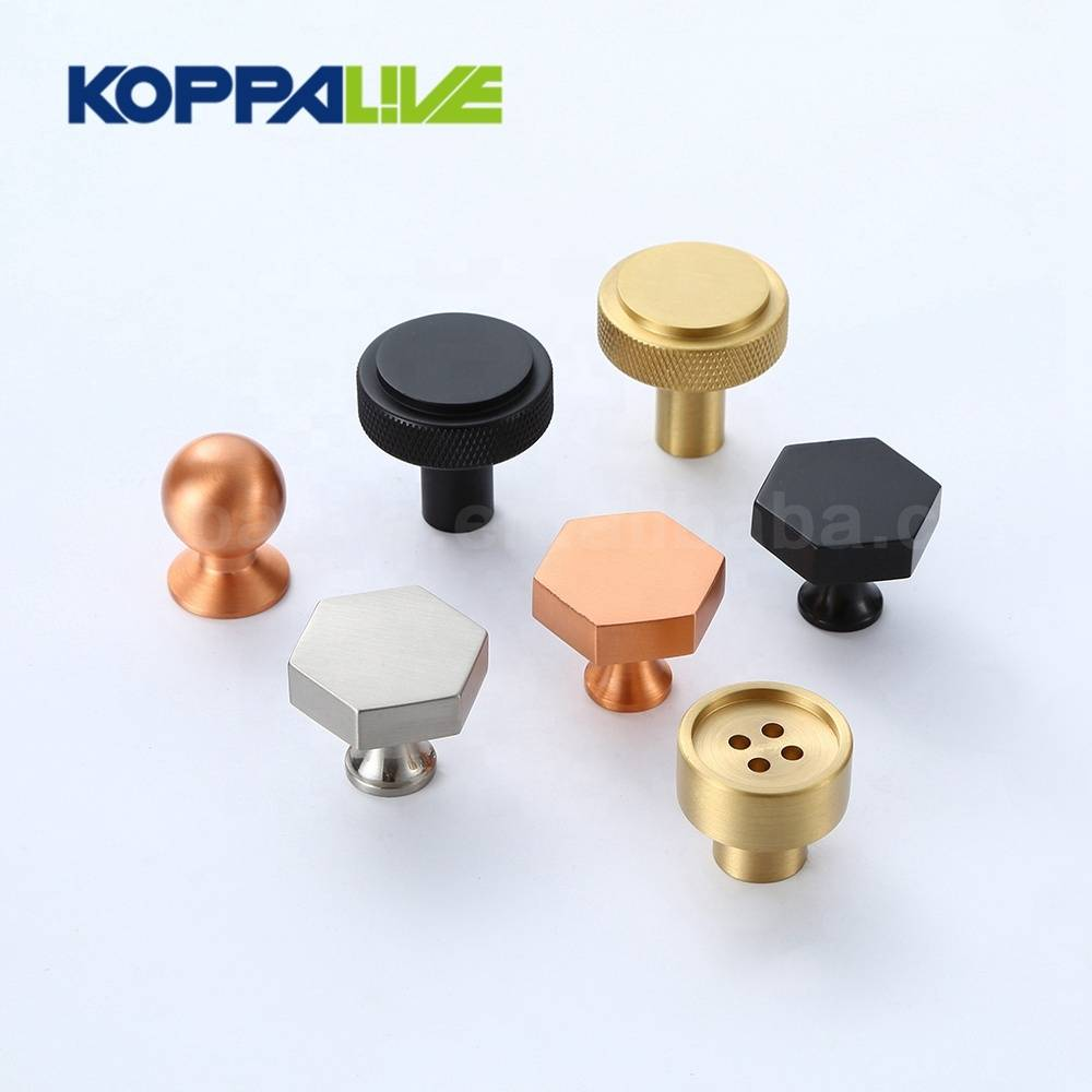 Simple design modern furniture hardware decorative single hole knobs brass cabinet drawer pull knob