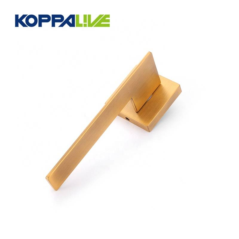 Hot selling custom furniture accessories front lever zinc alloy plated door handle