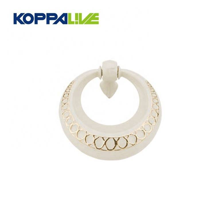 Hot sale competitive price modern bedroom furniture hardware zinc alloy ring cabinet drawer door knocker pull handle