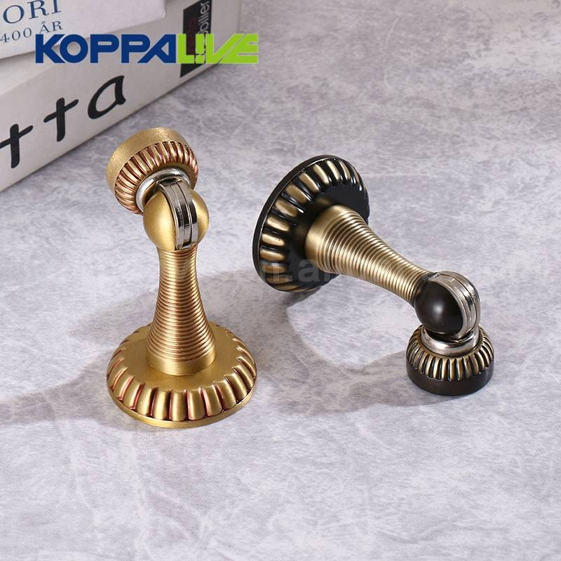 Professional China Indoor Door Stopper - Koppalive custom europe style furniture hardware classical shiny stripe gold brass gate door dust stopper – Zhangshiwujin