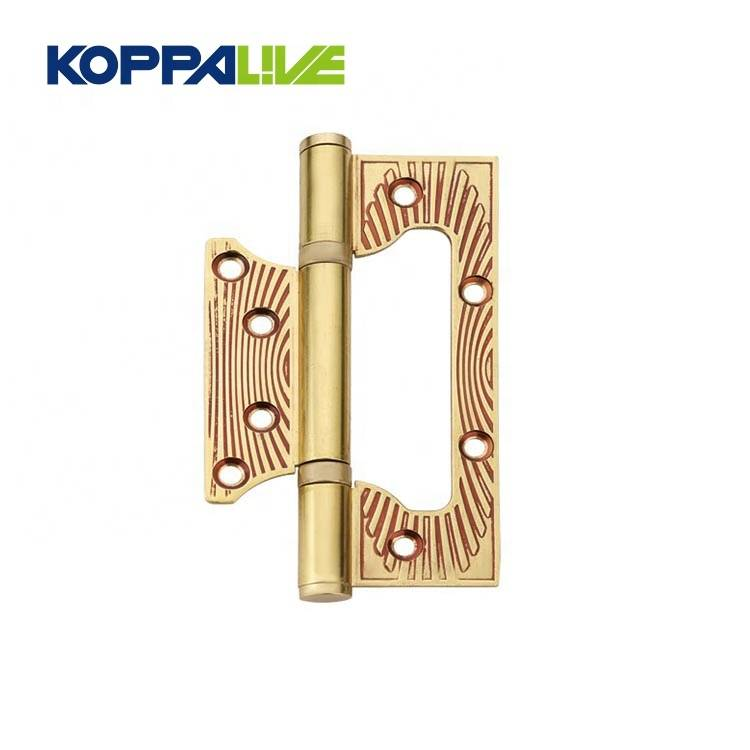 KOPPALIVE Factory Direct Sale European Style Solid Brass Plated Sub Mother Flush Wardrobe Iron Door Hinge