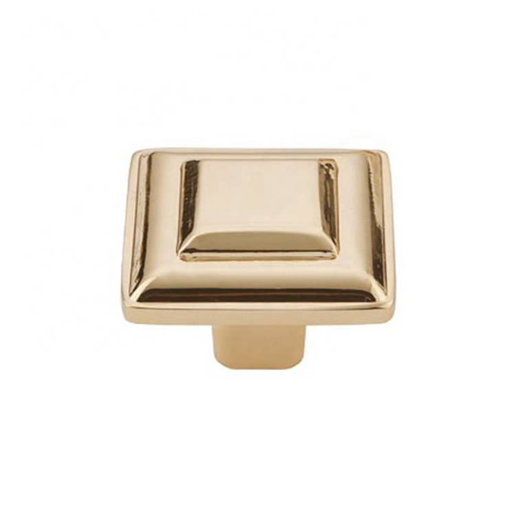 Koppalive Customized square metal brass hardware furniture cabinet drawer knobs