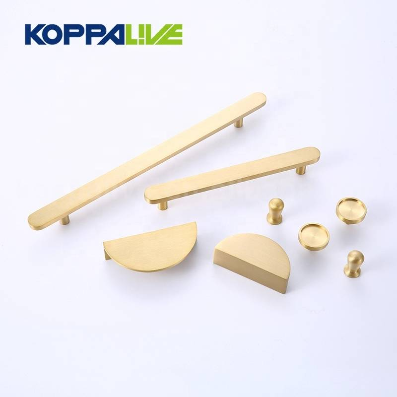 KOPPALIVE brass solid home cupboard furniture cabinet hardware drawer door copper pull handle and knob