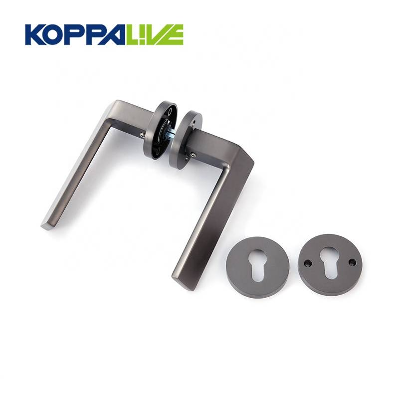 New fashion customized modern zinc alloy hardware double sided door lever handles