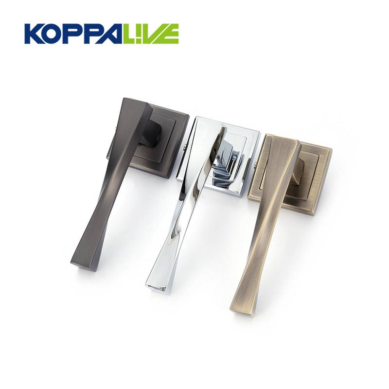 Manufacturing Companies for Antique Brass Pull Handles - KOPPALIVE High End Square Zinc Alloy Lock Interior Solid Lever Barn Door Handles – Zhangshiwujin