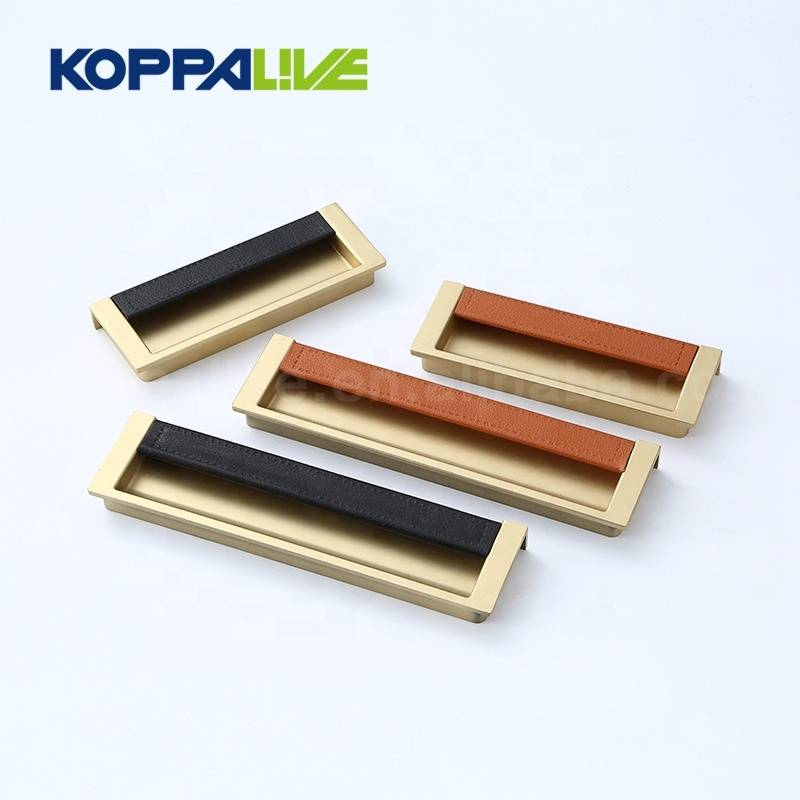 Gold recessed invisible single side hardware furniture cabinet closet hidden concealed door handle