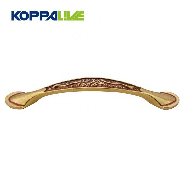 Cheap high quality modern decorative brass bedroom furniture hardware cabinet cupboard pull handle