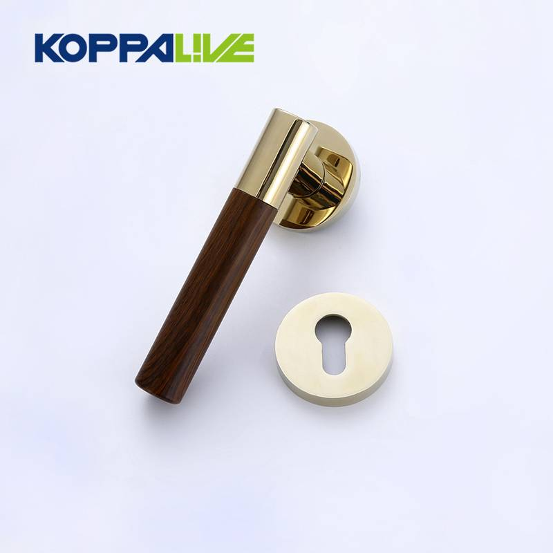 European style luxury high strength zinc alloy wood security external door handle lock