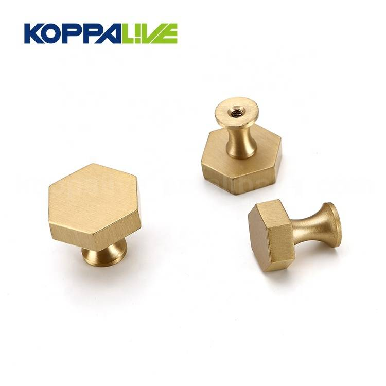 OEM Factory for Polished Brass Knobs - Hot selling copper hardware furniture accessory cabinet drawer pull handle brass knobs – Zhangshiwujin
