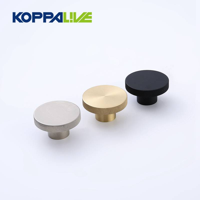 Koppalive New product custom cabinet knobs handles brass furniture knurled knob