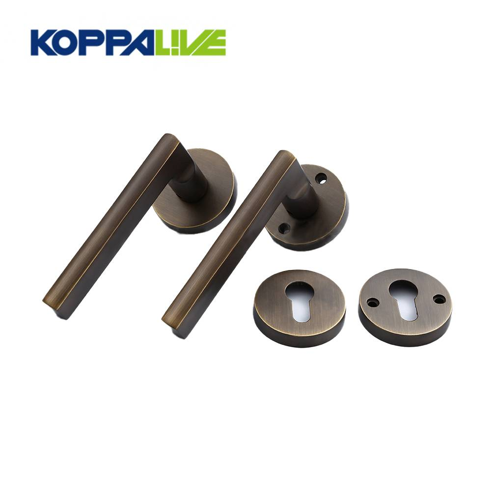 KOPPALIVE Custom Home Furniture Brass Lever Door Pull Handle Mortise Interior Lock Cylinder Lock Body Featured Image