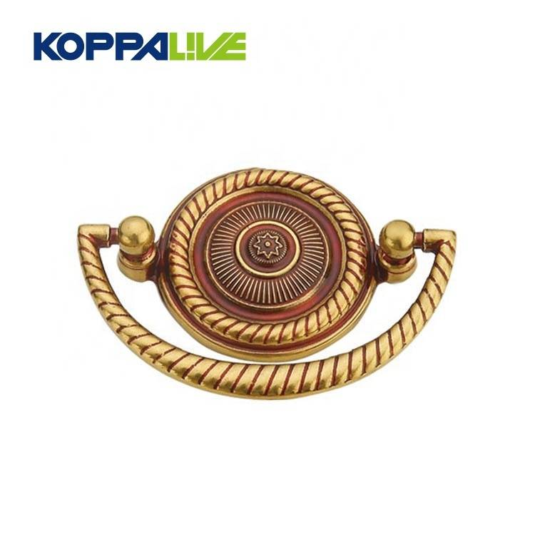 Wholesale Furniture Hardware Vintage Brass Drop Rings Antique Drawer Cabinet Door Knocker Pull