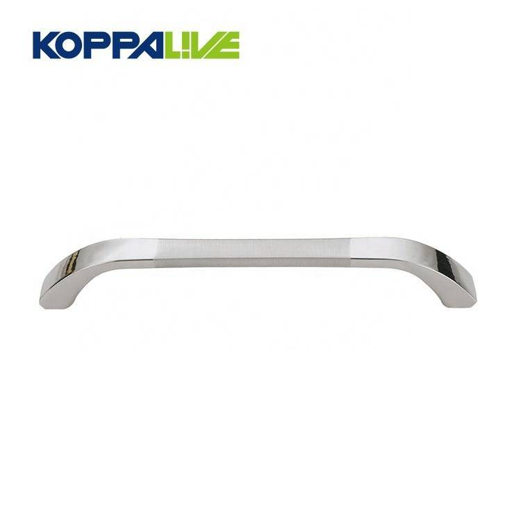 KOPPALIVE Simple Style Silver Hardware Furniture Zinc Alloy Cabinet Pulls Handle