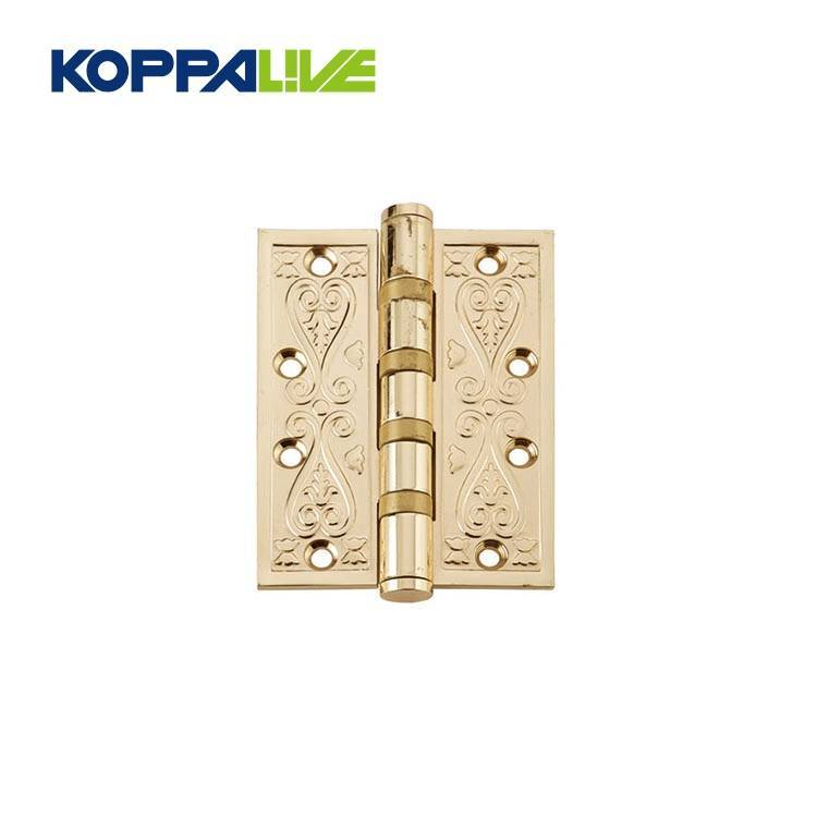 High Quality Brass Hinge - High quality antique brass 4 inch furniture hardware wooden door hinge – Zhangshiwujin