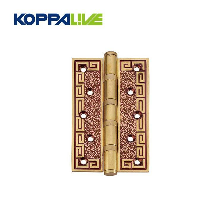Low price custom furniture hardware commercial antique solid door brass screw hinges flush