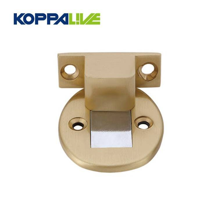High Quality Floor Mounted Hotel Magnetic Brass Door Stopper