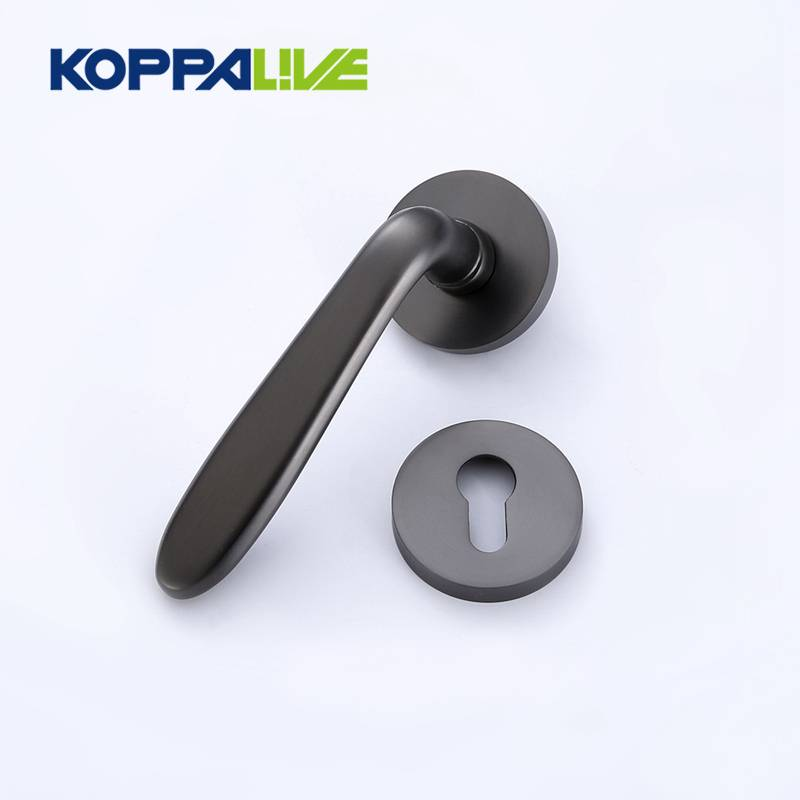 Zinc Alloy Simple European Style Lever Interior Bathroom Split Door Handle On Round Rose