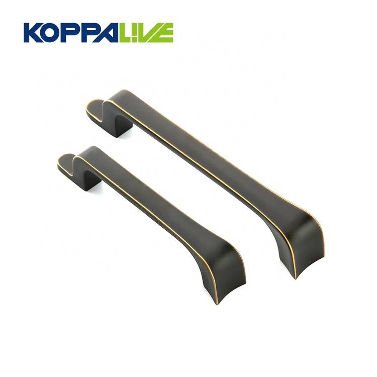 KOPPALIVE high quality zinc alloy wardrobe kitchen cabinet drawer handles pulls