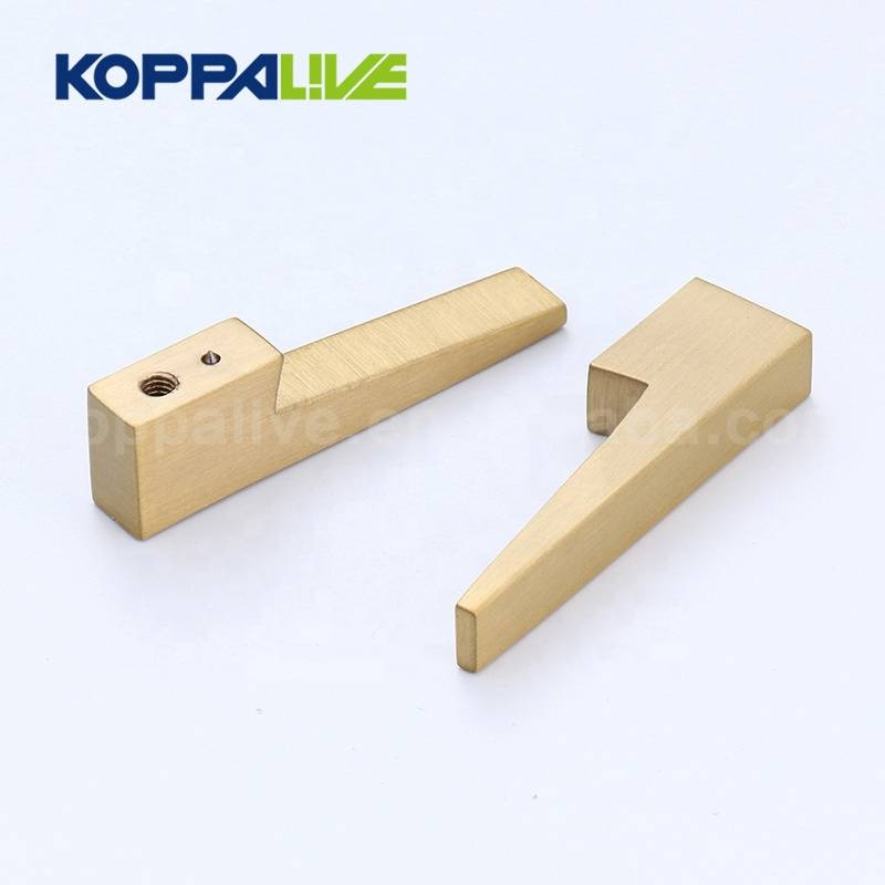 KOPPALIVE High End Elegant Gold Finished Solid Brass Interior Bedroom Living Furniture Hardware Door Lever Handles