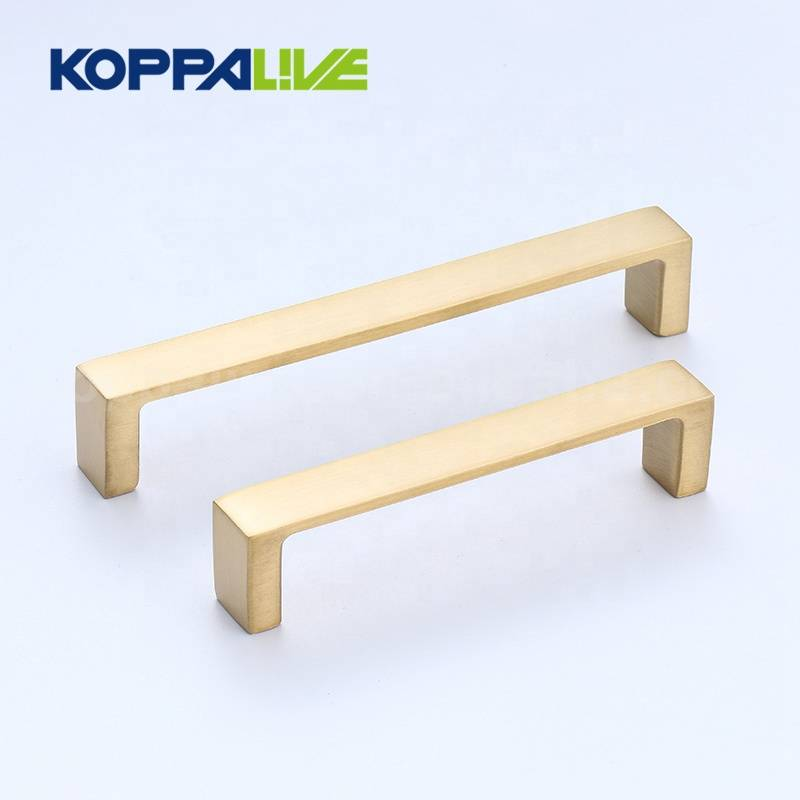 Good quality Bronze Cabinet Handles - Modern Kitchen Furniture Accessories Golden Solid Brass Drawer Pull Furniture Cabinet Handles – Zhangshiwujin