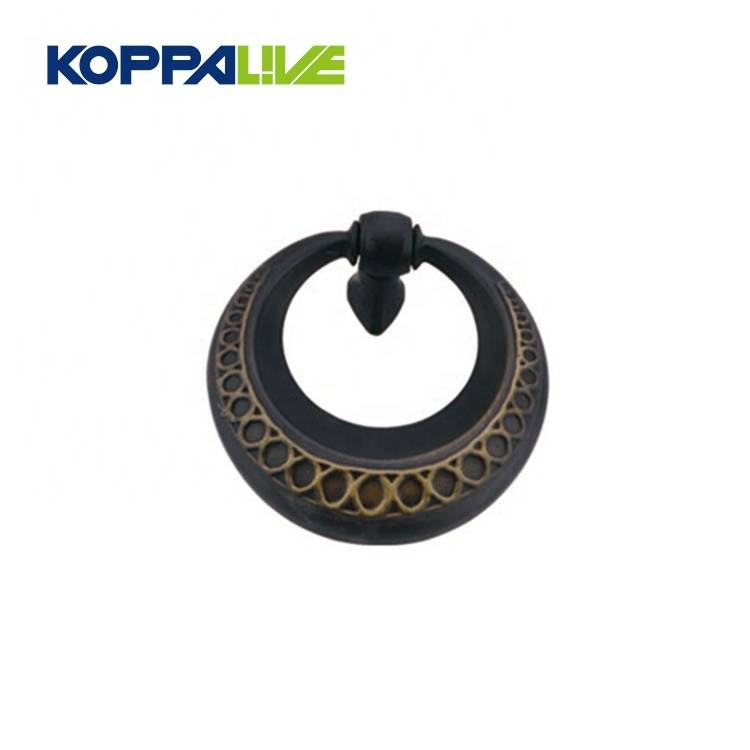 Wholesale black furniture hardware accessories classical drop ring drawer cabinet door knocker pulls