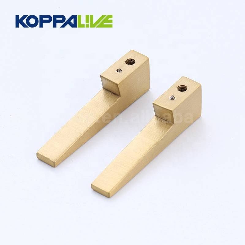Modern Design Elegant Brass Lever Copper Door Handles Hardware for Furniture