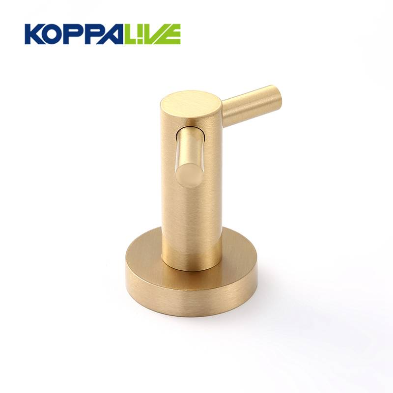 Customized home furniture wall mount clothes holders anti-corrosion brass coat hanger hook rack
