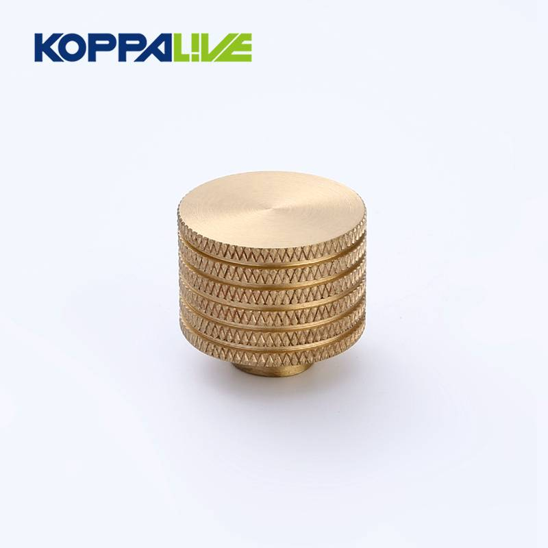 High quality decorative customized brass knurled bathroom cabinet pulls and knobs