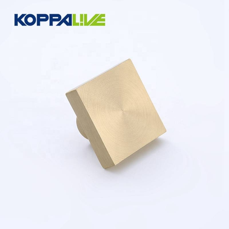 High Quality Customized Square Solid Brass Drawer Handle Knob Hardware