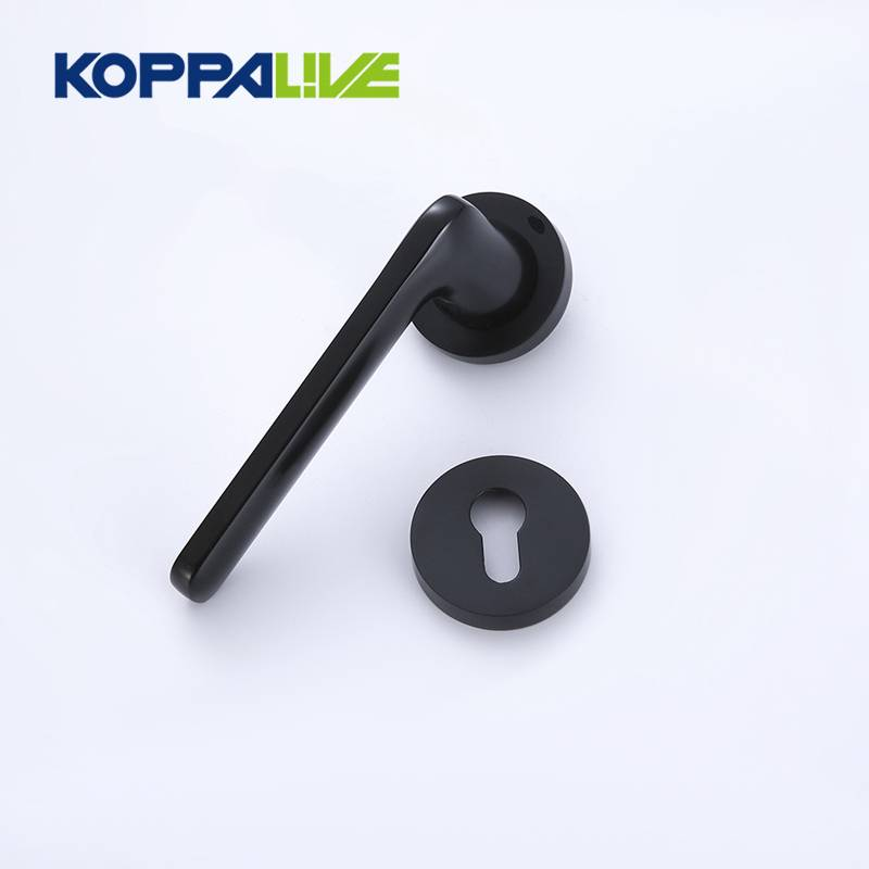 Nordic Zinc Alloy Electroplating Surface Round Rosette Black Door Handles