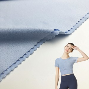 Ordinary Discount Sports Wear Polyester Fabric - 200GSM Nylon Tricot Fabric with Anti Bacterial for Sportswear/Yoga Wear/Legging KWS20-8008 – Kuanyang