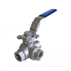 Europe style for 316 Ball Valve - 3-way T/L Ball Valve B501M – Kuntai
