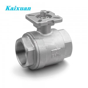2PC Ball Valve with Mounting Pad