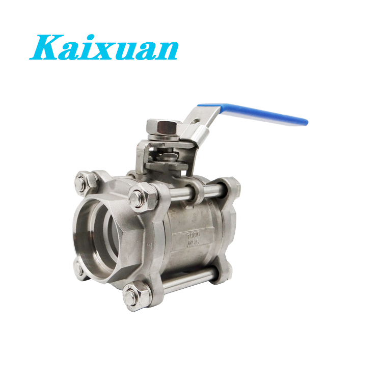 factory low price Stainless Steel Threaded Pipe Nipple - 3PC Ball Valves – Kaixuan detail pictures