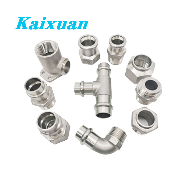 Factory directly Stainless Steel Screwed Fittings - Press Fitting Adapter  – Kaixuan