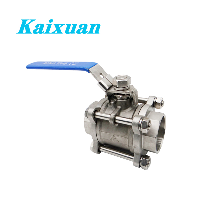 factory low price Stainless Steel Threaded Pipe Nipple - 3PC Ball Valves – Kaixuan