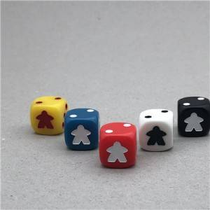 China custom card game dice bulk dice wholesale...