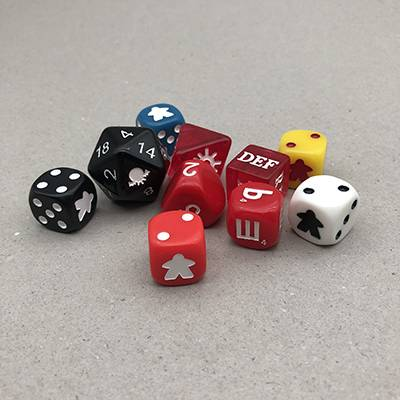 Custom engraved dice corner or square dice wholesale plastic dice