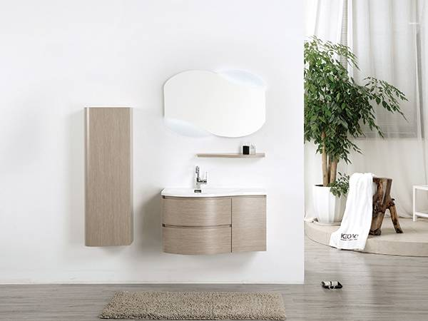 China Wholesale Discount 40 Bathroom Vanity Fashion Design Led Light Top Mirrored Bathroom Vanity Wall Mounted With Side Cabinet 1805090 Kazhongao Manufacturers And Suppliers Kazhongao